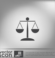 scales of justice icon vector image vector image