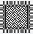 scarf keffiyeh pattern vector image