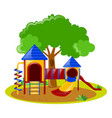 scene with playground in park vector image vector image