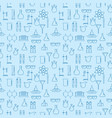 seamless pattern with chemical laboratory vector image vector image