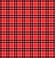 Seamless red tartan pattern vector image vector image
