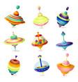 set colorful modern whirligig toy for home kids vector image vector image