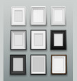 set frame for photos or paintings on wall vector image vector image