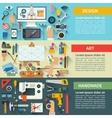 Set of flat design creative process concepts vector image vector image