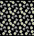 set of seamless pattern with cat and mouse vector image