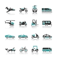 Set of transport icons - Two vector image vector image