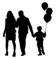 Set silhouette of happy family on a white vector image vector image