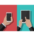 Smartphone and tablet-pc 1 vector image vector image