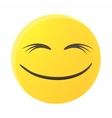 Smiling emoticon with smiling eyes icon vector image