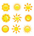 sun collection vector image