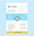 template layout for atoms comany profile annual vector image vector image