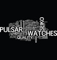the power of pulsar text background word cloud vector image vector image