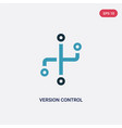two color version control icon from technology vector image vector image
