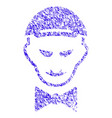vampire head icon grunge watermark vector image