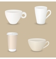 various coffee cups vector image vector image