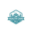 vintage medical logo designs vector image