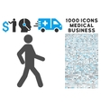 Walking Man Icon with 1000 Medical Business vector image