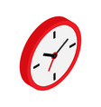 wall clock icon isometric pictograph isolated vector image