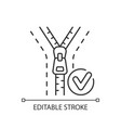 zipper repair and replacement linear icon vector image