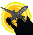 travel in new york vector image