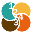 colorful circular figures with numeration vector image