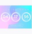 countdown timer digital clock vector image