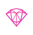 abstract geometric fugure of bright pink diamond vector image