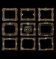 art deco frames gold gatsby deco frame border vector image