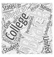 black college scholarship student Word Cloud vector image vector image