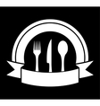 black food icon for restaurant vector image vector image
