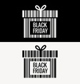 black friday gift box design vector image