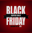 black friday super sale discount up to 75 vector image vector image