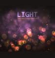 bokeh light in night vintage background vector image