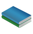 book green isolated on white background vector image vector image