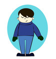 boy in winter clothes cartoon vector image