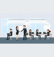 businessman and businesswoman at negotiations vector image vector image