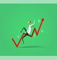 businessman ride the exchange rate vector image vector image