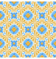 ceramic tile pattern with flowers vector image