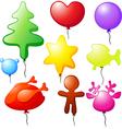 christmas balloons - speech bubble vector image
