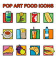 classic food icons vector image vector image