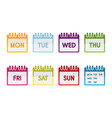 colorful calendar vector image vector image