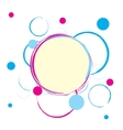 Colorful circles background with blank space vector image vector image