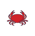 crab icon cartoon style vector image