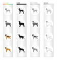 dalmatian terrier shepherd and other web icon vector image