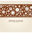 decorative floral invitation vector image vector image