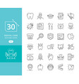 dental medicine thin line icons vector image
