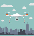 drone with photo camera flat design vector image