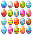easter eggs collection on a white background vector image vector image