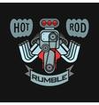 engine hot rod muscle car speedster logo t-shirt vector image vector image