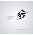 eye icon in the style of tattoos vector image vector image